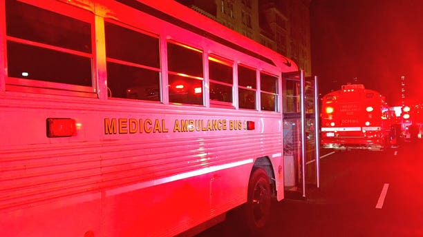 Dozens of people were taken to the hospital after some reported having symptoms of food poisoning Sunday night.