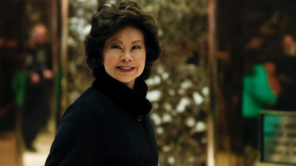 Nov. 21, 2016: Former Labor Secretary Elaine Chao arrives at Trump Tower in New York, to meet with President-elect Donald Trump.