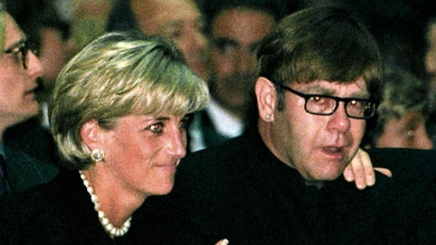 Elton John discusses his friendship with Princess Diana and her sons Prince William and Harry's happiness after falling in love.