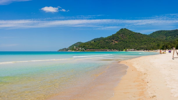 panorama pic - southern part of chaweng beach in koh samui, thailand