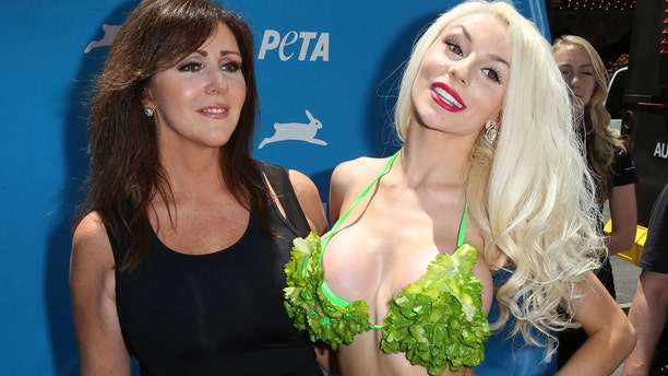 Courtney Stodden with her mother Krista Keller.