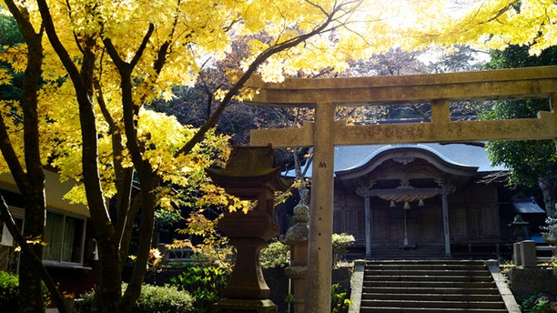 A Shinto shrine in the Japanese Oki Islands.