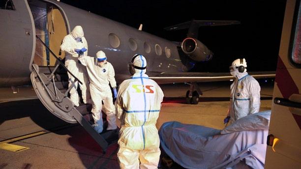 Cuban doctor Felix Baez Sarria was transported to the Geneva University Hospital.