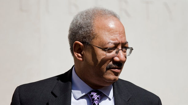 FILE: March 11, 2016: Rep. Chaka Fattah, D-Pa., walks from the federal courthouse in Philadelphia, Pa. (AP)
