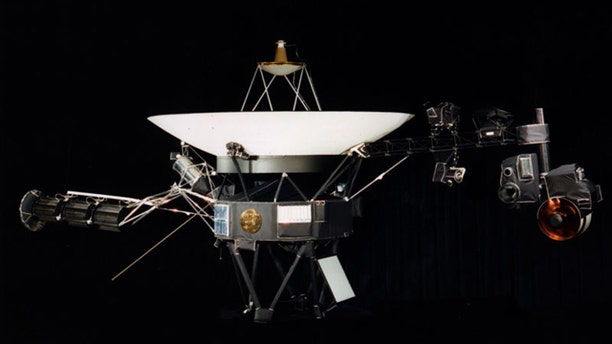 The Voyager 1 spacecraft, currently hurling through space at 38,000 mph -- and nearing the edge of the solar system.