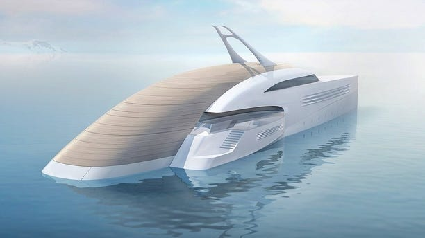 Luxury meets utility in this futuristic superyacht concept.