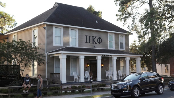 Florida State University's Pi Kappa Phi fraternity house near the FSU campus in Tallahassee, Fla., is seen in this photo.