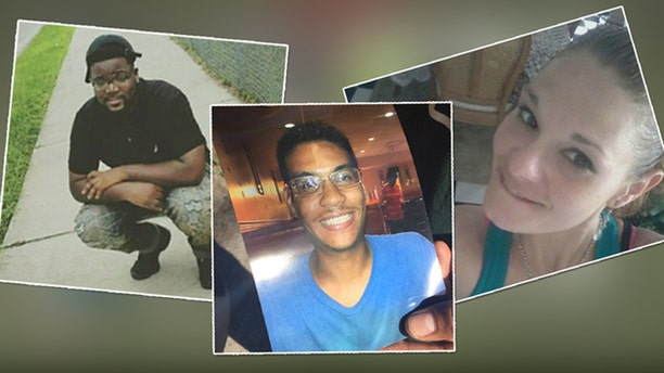 Tampa police believe the murders of (from left) Benjamin Mitchell, Anthony Naiboa, and Monica Hoffa were committed by the same person