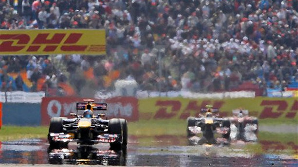 Drivers race during the Formula One Grand Prix at the Istanbul Park circuit racetrack in Istanbul, Turkey, May 8.
