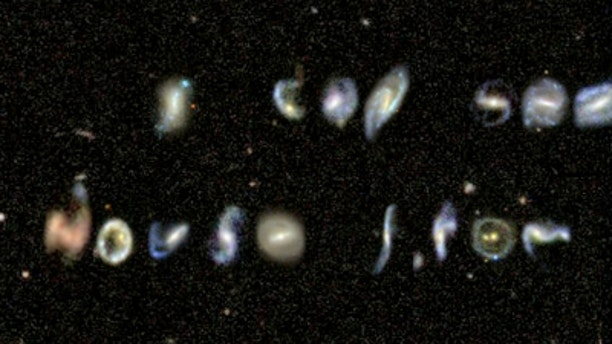The online Galaxy Zoo project has found galaxies shaped like every letter of the alphabet.