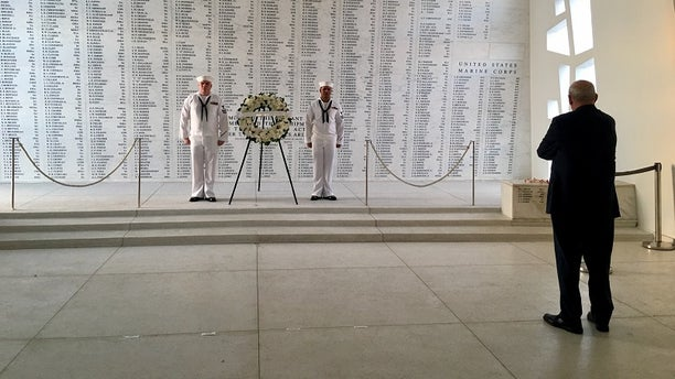 General John Kelly took a moment to recognize the Marines lost in the Pearl Harbor attack.