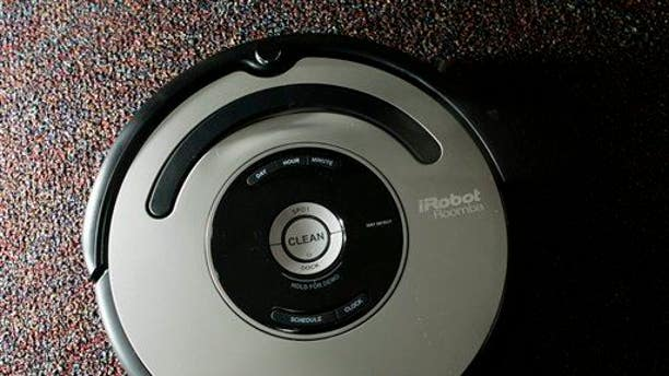 The Roomba vacuum cleaner by iRobot Corp. is seen in Boston in this Aug. 21, 2007, file photo.