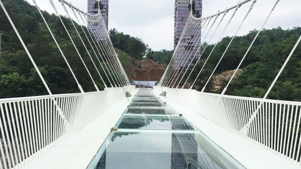 It was not immediately clear when the glass span would be reopened to the public.