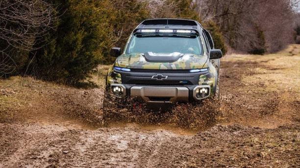 The Chevrolet Colorado ZH2. (Credit: General Motors)