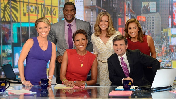 """Robin Roberts, George Stephanopoulos and Michael Strahan are now the only """"GMA"""" co-hosts mentioned in the cold open."""