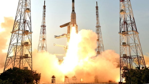 The Indian Space Research Organisation successfully launched the GSAT-6A communications satellite on March 29, 2018, on a Geosynchronous Satellite Launch Vehicle rocket, but lost contact with the satellite on March 30.