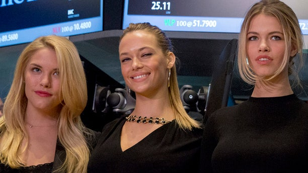 Sports Illustrated swimsuit models (L-R) Ashley Smith, Hannah Ferguson, and Hailey Clauson,