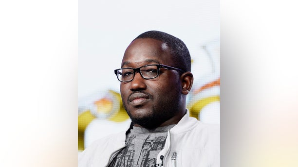 """Cast member Hannibal Burress of the new animated comedy """"Chozen"""" participates in a panel during FX Networks' part of the Television Critics Association (TCA) Winter 2014 presentations in Pasadena, California, January 14, 2014.  REUTERS/Kevork Djansezian  (UNITED STATES - Tags: ENTERTAINMENT) - RTX17E7Y"""