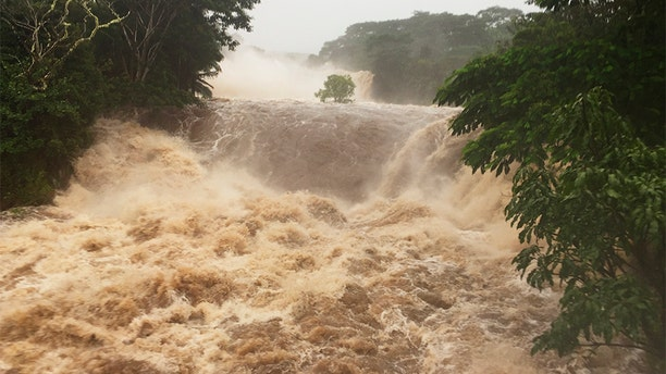 Flooding seen on Thursday near Hilo, Hawaii.