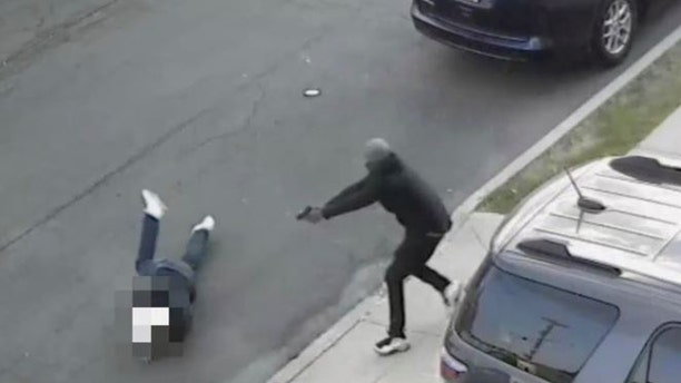 Video footage shows shooting victim Salvatore Zottola, 41, attempting to escape a gunman.