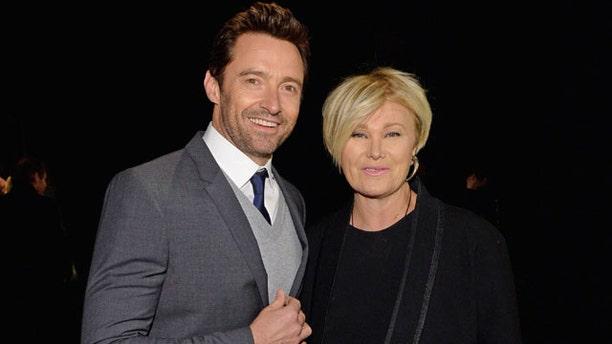 Hugh Jackman (left) and wife Deborra-Lee Furness.