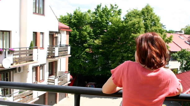 apartment balcony with limited privacy