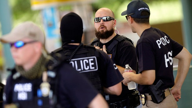 Officials arrested nearly 500 illegal immigrants living in sanctuary cities across the country this week, according to ICE.