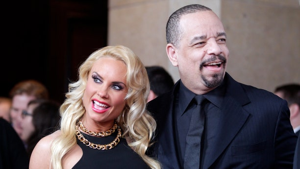 March 11, 2013. Actor Ice-T and wife Coco pose at the Academy of Television Arts & Sciences 22nd annual Hall of Fame gala in Beverly Hills, California.