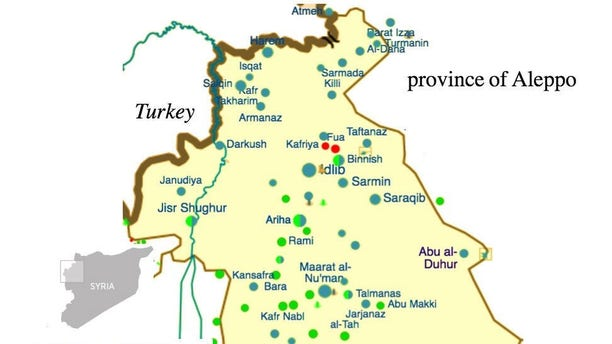 Map of Syria's AQ-dominated Idlib