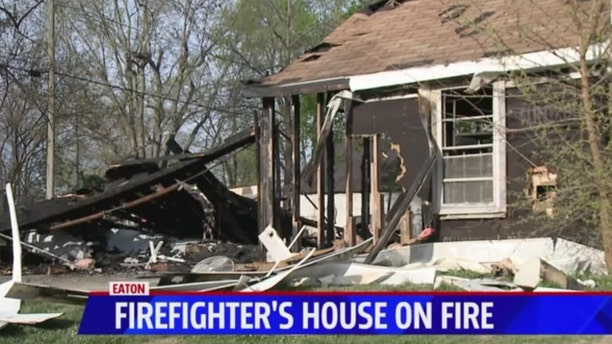 A volunteer firefighter in Indiana responded to a call at his own home.