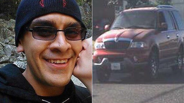 Modesto police arrested Martin Martinez, left, in connection with five bodies that were found in a California home. Police say he was last seen driving a Lincoln Navigator, right.