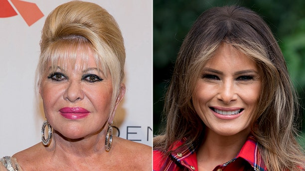 """Ivana Trump, at left, said she was the First Lady. The office of Melania Trump, at right, says there is """"no substance"""" to her comment. (AP)"""