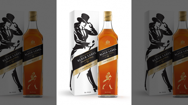 "Johnnie Walker replaced the Striding Man logo for limited-edition bottles of Jane Walker, as a way to celebrate the achievements of ""women and everyone on the journey towards progress in gender equality."""