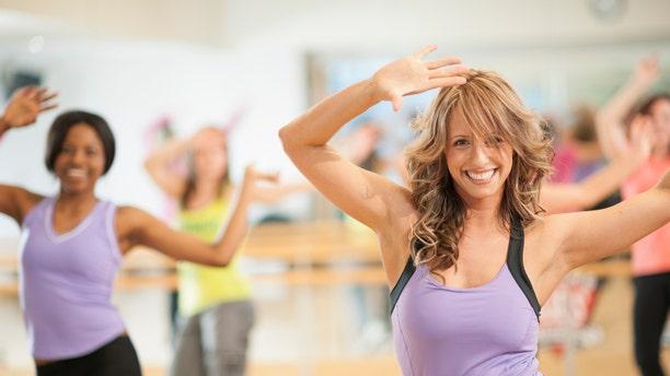 Fitness dance class.