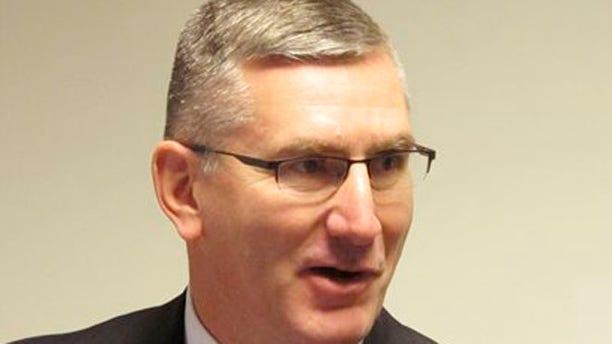 Jan. 26, 2014: U.S. Sen. John Walsh speaks to reporters in Helena, Mont.