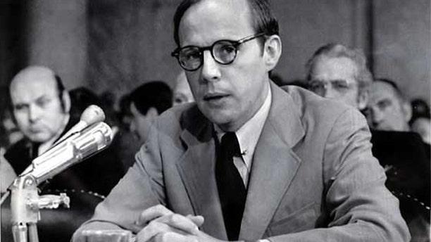 John Dean, former counsel to President Nixon, testifying during a Senate Watergate hearing in 1973.