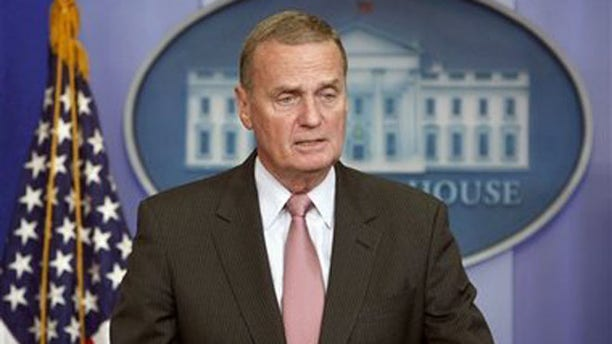 Then-National Security Adviser James Jones speaks to the press at the White House in this 2009 file photo.