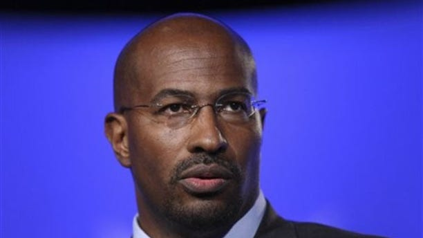 Van Jones is seen at the National Summit in Detroit, in this June 16, 2009, file photo. (AP Photo)