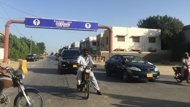 """The """"Phase Eight"""" area, the most recent part of Karachi, to have been targeted for intense cleanup and crackdown as part of efforts to reduce terrorism and crime in the Pakistani city."""