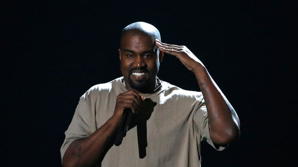 August 30, 2015. Kanye West accepts the Video Vanguard Award at the 2015 MTV Video Music Awards in Los Angeles, California.
