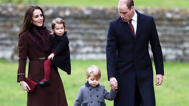 The Duchess of Cambridge (left) and Prince William (right) are already parents to Prince George, 4, and Princess Charlotte, almost 3.