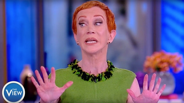 """""""Where was the apology for Kathy Griffin going on a profane rant against the president on The View after a photo showed her holding President Trump's decapitated head?"""" Sarah Sanders asked."""
