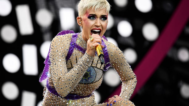 Perry performs on the Pyramid Stage at Worthy Farm in Somerset during the Glastonbury Festival in Britain, June 24, 2017.