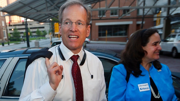 Former U.S. Rep. Jack Kingston and his wife Libby are seen in Atlanta, May 20, 2014. (Associated Press)