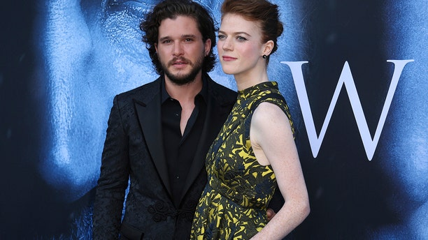 Kit Harington with wife Rose Leslie.