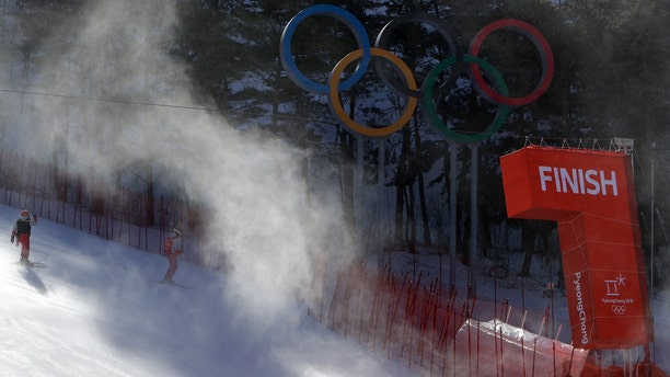 The women's giant slalom at the Winter Olympics was postponed due to high winds.