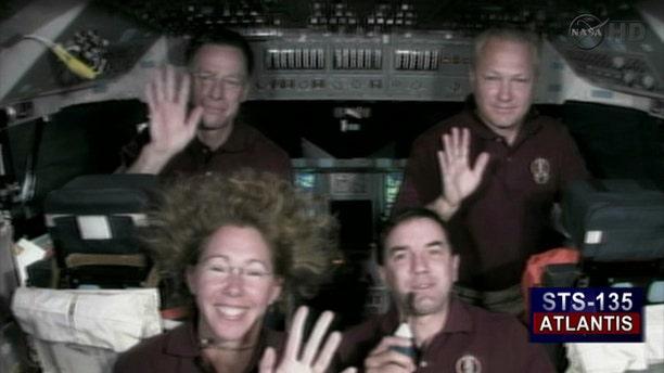 The Final Shuttle Crew (from top left to bottom right): Shuttle Commander Chris Ferguson, Pilot Doug Hurley, Specialist Sandy Magnus, Specialist Rex Walheim
