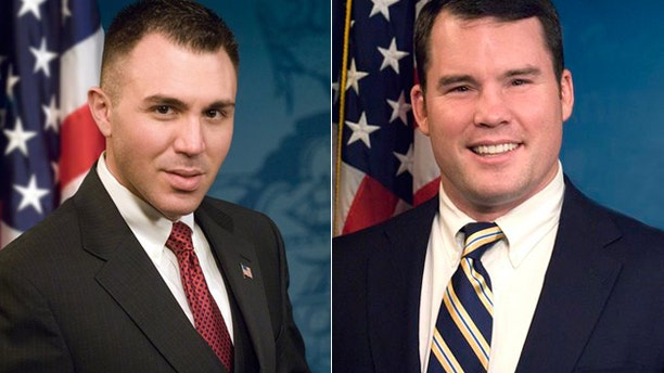 State Rep. Marty Flynn, right, and Rep. Ryan Bizzarro were accosted while they walked home near the Capitol on Tuesday night.