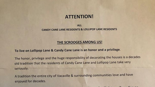 Homeowner Lyndia Zarra posted the nasty letter on Facebook where she's received a ton of support.