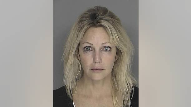 Heather Locklear pictured in a 2008 booking mug released by Santa Barbara County Sheriff's Department. She was arrested in 2008 on suspicion of driving under the influence but the charges were later dismissed.